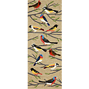 hand tufted birds mat and runner