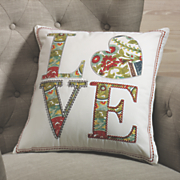 love  outline stitch pillow