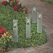 set of 2 decorative bird solar stakes