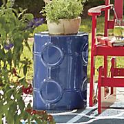 marine blue garden stool