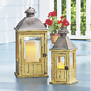 set of 2 wainscot lanterns