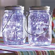 set of 2 mason jar lanterns