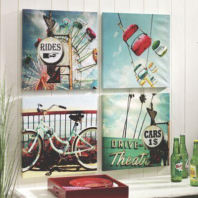 Set of 4 Outdoor Retro Prints