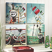 set of 4 outdoor retro prints