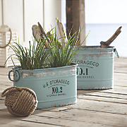 Set of 2 Aqua Tubs