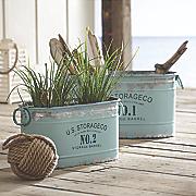 set of 2 aqua tubs