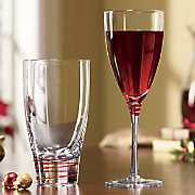 4 pc  bayou red drinkware set