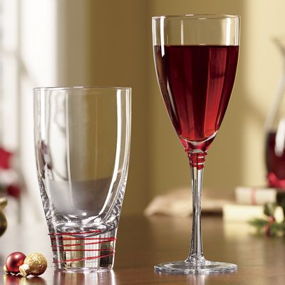4-Piece Bayou Red Drinkware Set
