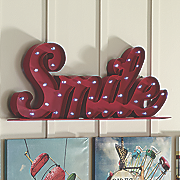 smile marquee outdoor light