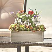 succulent planter with jars