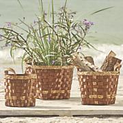 set of 3 woven baskets 60