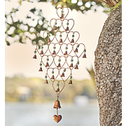 heart bell wind chime