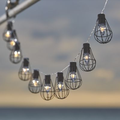 String Lights With Cage : Solar Cage String Lights from Through the Country Door NI737334