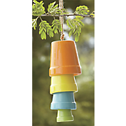 colored pot wind chime