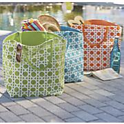 lattice pattern jute bag