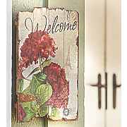 geranium welcome sign
