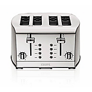 4 slice stainless steel toaster by krups