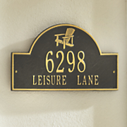 adirondack chair address sign