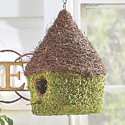 moss bungalow birdhouse