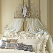 bed crown with tie backs