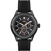 men s ameritus watch with black silicone strap by timex