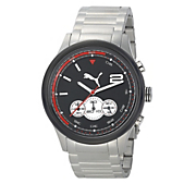 men s chrono watch with black face by puma