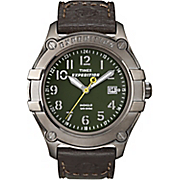 Men's Expedition Watch with Brown Leather Band by Timex
