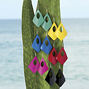 wave lucite earrings