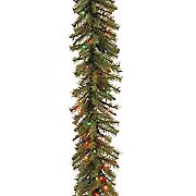 9  norwood fir garland with multicolor lights