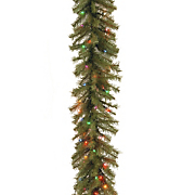 9' Norwood Fir Garland with Multicolor Lights