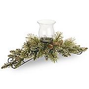 glitter bristle pine centerpiece