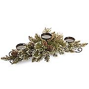 glitter bristle pine candleholder centerpiece