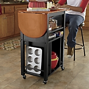drop leaf kitchen cart