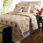 Andorra Quilt Set, Neck Pillow, Decorative Pillows and Throw