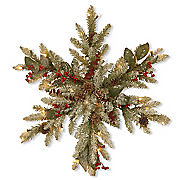 lighted frosted tips pine snowflake