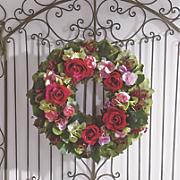 pink rose wreath
