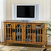 Arched-Door Mission Style 4-Door TV Stand