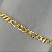 14k figaro bracelet