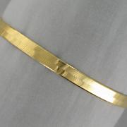 14k herringbone bracelet