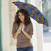 Barcelona Polka Dot Folding Umbrella
