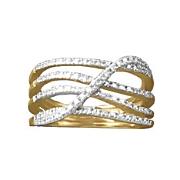 diamond 5 swirl ring