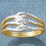 diamond 3 swirl ring