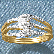 diamond 3 swirl ring