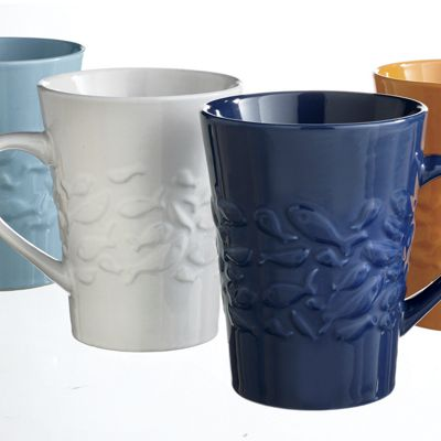 Set of 4 Assorted Fish Mugs