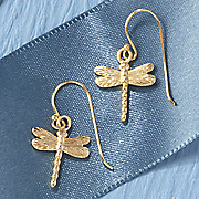 14k dragonfly earrings