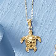 14k turtle pendant
