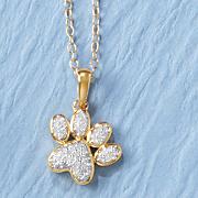 Diamond Dog Paw Pendant