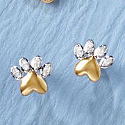diamond dog paw earrings