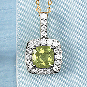 birthstone and white sapphire pendant