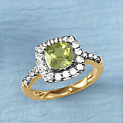birthstone and white sapphire ring